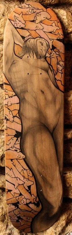 Original Skateboard Deck Art by Eric Hansel