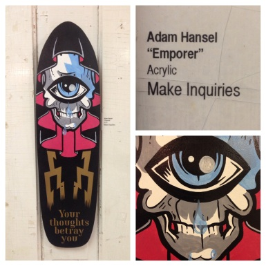 "Adam Hansel aka DeadVolt ""Emporer"" original art skateboard deck acrylic on wood"